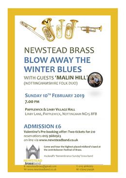 Folk Focus for Newstead Brass and Malin Hill as we Blow Away the Winter Blues