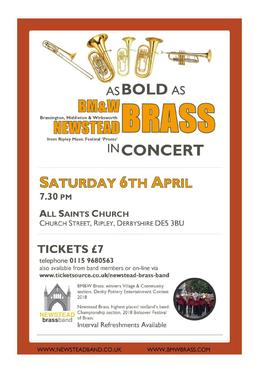 Brass from Two Counties will be Putting on the Ritz in Ripley